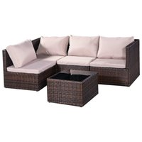 Wholesale Combination Sofa - New 5 Piece Outdoor Patio Garden Furniture Wicker Rattan Sofa Set,Rattan Sofa Furniture Set Patio Conservatory Garden Seat Free Combination