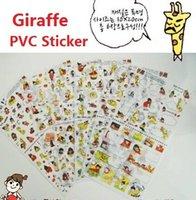 Wholesale Wholesale Pvc Sign Posts - New Korea Cute Giraffe PVC Diary Sticker Multifunction Cartoon DIY Phone Sticker Sign post , free shipping
