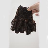 funmi lose welle großhandel-Ombre Funmi Hair Malaysisches Menschenhaar Spirale Lose Welle Lockig, Tante Funmi Hair Extensions 3 Bundles G-EASY