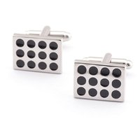 Wholesale Strip Brass - new Brand Cuff Links black strip design for men cufflinks Paint men's shirt buttons Luxury brand cufflink cuff link 960012