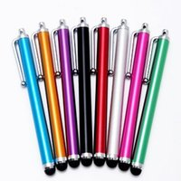 Wholesale Touch Screen Iphone S2 - Wholesale-Round Head Capacitive Screen Touch Metal Stylus Pen for iPhone 4 4S iPad 2 iPad 3 Samsung Galaxy S2 Cell Phone Tablet,With Clip