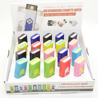 Wholesale Electronic Cigarette Display Box - Rechargeable electronic cigarette USB flameless Cigar Lighter With Display Box also offer arc torch gas lighters Smoking Tools Accessories