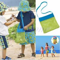 ingrosso sacchetto di pannolino per giocattoli-Applied Enduring Children Sand Away Borsa a rete da spiaggia per bambini Giocattoli da spiaggia Abiti Borsa per asciugamani Collezione di giocattoli per bambini Pannolino