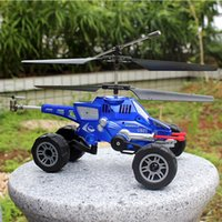 Wholesale Rc Helicopter Fire - RC Drone UDI U821 RC Helicopter Quadcopter 3.5CH multi-purpose vehicles flying fired missiles Control driving on land flying Car