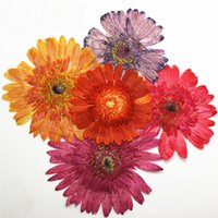 Wholesale Gerbera Arrangements - Shiny Red Color Gerbera Pressed Flower Arrangement Size 8-12CM For Epoxy Material And Painting Decoration Wholesale 10Pcs Free Shipment