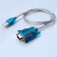 Wholesale Adapter Usb Com - 200 pcs New CH340 USB to RS232 male COM Port Serial PDA 9 pin DB9 Cable Adapter Support Windows7 Wholesale