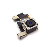 iphone 5g arka kamera toptan satış-Sınıf A Orijinal / Orijinal Yedek Arka Kamera Arka Kamera Modülü Apple iPhone 5 5G için Flash ile