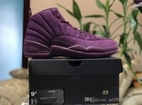 Wholesale Public Real - 2017 Air Retro 12 PSNY X Basketball Shoes Bordeaux Burgundy Purple 12s Wine Red Men Real Carbon Fiber US 8-13 The Hottest Public