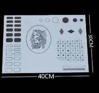 Wholesale Pat Mat - Professional Clear Silicone Stamping Nail Art Plate Color Pat Washable Mat Table Transfer Toools
