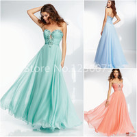 Wholesale Noble Strapless Sweetheart Red - Noble New Evening Dress Sexy Sweep Train Chiffon Sweetheart Evening Dresses Beading Fashion Robe De Soiree