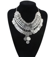 Wholesale collar necklace for sale - Ancient Coins Necklaces Coins Choker Statement Gypsy Coin Choker Statement Bohemian Style Necklace for Fashion Woman