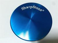Wholesale Alloy Stones Piece - CNC 2 Piece 50mm SharpStone Herb Grinder zicn Alloy 2 Parts Hard top Tobacco Grinder Sharp Stone Herb Grinders Diameter Smoke Grinder