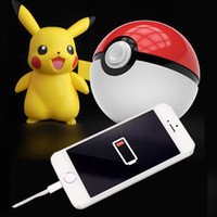 Wholesale Ar Ball - Newest Poke power bank 10000 mAh for Poke AR game powerbank with Poke ball LED light portable charge figure toys Free shipping OTH278