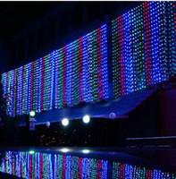 cortinas iluminadas bodas al por mayor-3M * 1M. 6 M * 1 M 9 M * 1 M LED luces de cortina lumineuse para bodas Garland fiesta de Navidad luminaria luces de decoración de la boda