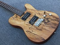 Solid Body 6 Strings Mahogany New store factory custom snakehead TL guitar birdeye maple neck vintage electric guitar Rotten wood color