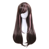 Wholesale Virtual Woman - New Arrival Virtual Youtuber Cospaly Wigs AI Long Mixed color Synthetic Hair Peruca Women Cosplay Wig
