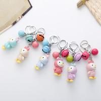 Wholesale Korean Cartoon Love - LOVE Korean Princess Chick Bells Car Key Chain Bag Pendant Key Ring Keyrings Bag Pendant Wholesale Faimly Gifts D275L