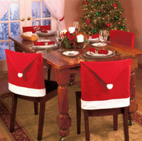 Wholesale Party Supplies Chair Covers - Santa Claus Hat Shape Christmas Chair Cover Christmas Chairs Decoration Supplies Christmas ornaments for Festival Party Home Decoration