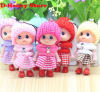 Wholesale Mini Kids Mobile Phone - Cute Kids Toys Soft Interactive Baby Dolls Toy Key Chain, Mini Doll Keychain For Girls Key Ring Key Holder Mobile Phone Straps
