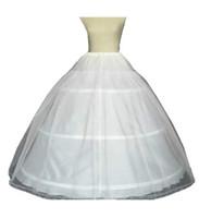 vestido de bola enaguas para la venta al por mayor-Venta caliente A -Line Ball Gown 3 Hoops blanco enaguas nupcial Enagua con encaje Edge boda Crinoline 2016 Q06