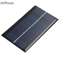 mini painéis solares para telefones venda por atacado-MVPower Mini 6 V 1 W Painel Solar Power DIY Painel Solar Para Carregadores de Bateria de Telefone Celular Painel Solar Portátil