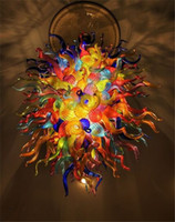 candelabros de restaurante contemporáneo al por mayor-Lámparas Colorido Murano lámpara de cristal único de vidrio contemporáneo de las luces de techo Restaurantes Pop con alta calidad