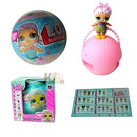 Wholesale Cartoon Baby Chickens - 2017 New LOL SURPRISE DOLL Unpacking Dolls Dress Up Toys baby Tear open change egg dolls can spray toys WD415
