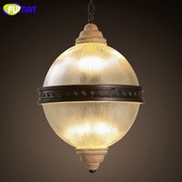 Wholesale Frosted Glass Pendant - FUMAT Modern Pendant Light Frosted Glass Lampshade Hanging Globe Lamps Dinning Room Globe Pendant Light E14 LED