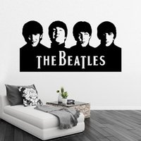 Wholesale Beatles Decals - Retail Sample Beatles Wall Art Decals Vinyl Wall Stickers Home Decor Wall Decor Free Ship 29X57CM