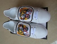 Wholesale Rubber Patches - Designer Men Women Removable Tiger Embroidered Patches Casual Shoes Luxury White Low Top G Sneakers Flat Drop Shipping
