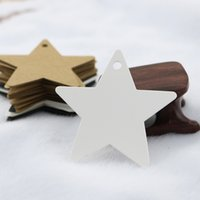 Wholesale Wedding Favor Box Tags - 100pcs DIY Black Star Kraft Paper Label Price Tag Wedding Christmas Halloween Party Favor Gift Card Lage Tags Packaging Label
