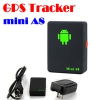Mini A8 Car GPS Tracker Global em tempo real 4 Frequency GSM / GPRS Segurança Auto Tracking Device Support Android para crianças Pet Vehicle