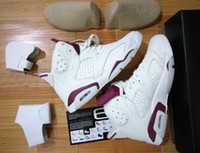 Wholesale Suede 41 - Air Retro 6 OG MAROON INFRARED RED Top Quality man basketball shoes retro 5S sport shoes size eur 41-47