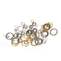 200pcs / lot 6mm 7mm 8mm Alloy Single Loops Open Jump RingsSplit Rings Bijoux DIY Résultats