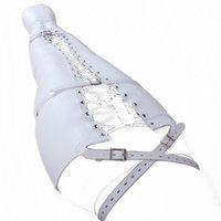 Wholesale White Bondage Rope - White Leather Mermaid Body Harness Legs Binding Gear Lacing Adjustable Belt BDSM Bondage Positioning Kit Sex Toy
