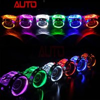 Wholesale Devil Hid - Free Shipping Autoki 360 Circular Projector Led Devil Eye Demon Eye for HID Projector Lens Koito Hella