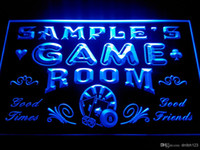 Wholesale Office Room Signs - DZ013-b Name Personalized Game Room Man Cave Beer Bar Neon Light Sign