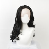 Wholesale High Fashion Hairstyles - African American fashion wig Fashion hair wigs lace front wigs long high-temperature synthetic hair with long wavy hair Black curls Black