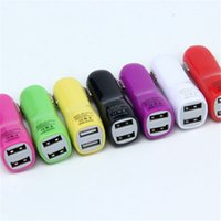 Wholesale Cheap Iphone Mobile Charger - Cheap Price Top Colorful Dual USB 2 ports 2.1A Duckbill Type Car Charger For Any Mobile Phone Cellphone Power Device