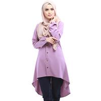 vestidos de verão turcos venda por atacado-10 PCS verão Novel Abaya turco mulheres roupas camisa muçulmana vestido islâmico Abayas Jilbabs Musulmane Vestidos Longos Dubai Kaftan Irregular