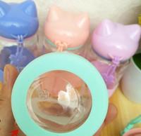 ingrosso bottiglie di acqua calda animale-Hot Home Candy Colors My Glass Bottiglia d'acqua Fox Silicone Acqua potabile Per bottiglia Child Animal Tumbler bottiglie caffè Tenere il tè