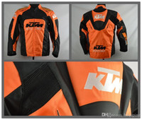 Wholesale motorcycle jacket nylon waterproof - Brand-2016 new High quality KTM motorcycle Racing jacket oxford clothes motorbike jacket big size with protective gear size M to XXXL