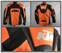 yüksek vites toptan satış-Marka-2016 yeni Yüksek kalite KTM motosiklet Yarış ceket oxford giysi motosiklet ceket büyük boy koruyucu dişli boyutu M XXXL