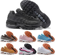 Wholesale Lime Green Tops - Top Quality Air Cushion 95 Women Running Shoes Classic QS Runs Shoes For 95 Sports Sneakers 36-40