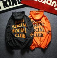 Wholesale Latest Jacket Zippers - latest design brand Jacket Summer Paranoid Windbreaker kanye Sunscreen Jacket Black and white long sleeve men jacket