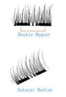 Wholesale Wholesale Hair Paris - 50 paris 3d double magnetic eyelashes Cross Thick False Eye Lashes Extension Makeup Natural magnetic Fake Eyelashes dhl free shipping 2017