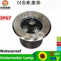 Wholesale Ip67 Underground - Wholesale 3W 6W 10W 12W 14W 18W 24W LED Underground Light 18W LED underground lamp AC85-265V Waterpoof led underground Free shipping