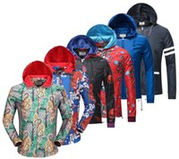 Wholesale Men Luxury Jacket - Luxury Fashion Brand Long Sleeve print jacket Men Casual windbreaker hooded jacket Tiger printing Medusa silk jacket hoodies