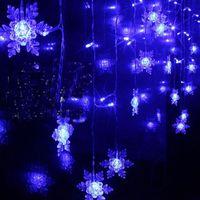 Wholesale Led Flashing Snowflake - 3.5M 100SMD Snowflake LED String Curtain Lights Festoon Lights Holiday Christmas Wedding party Decor