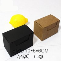 black apparel boxes - Package Cake Box New Style Brown black Kraft Paper Boxes Party Wedding Food Favor Diy Gift cm